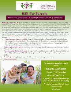 RSE for Parents (AGM 2015)